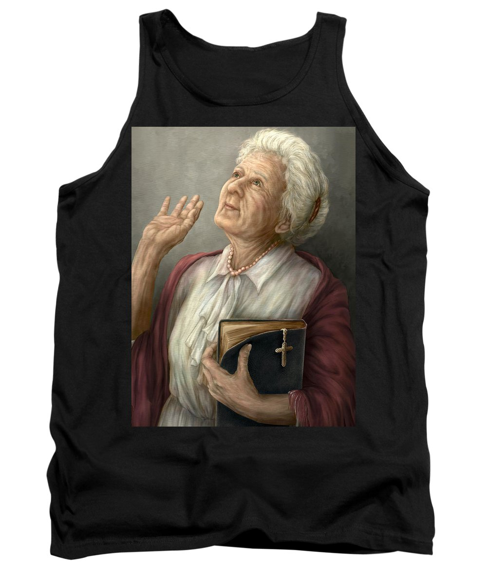Praise Tank Top featuring the painting Praise by Beverly Levi-Parker