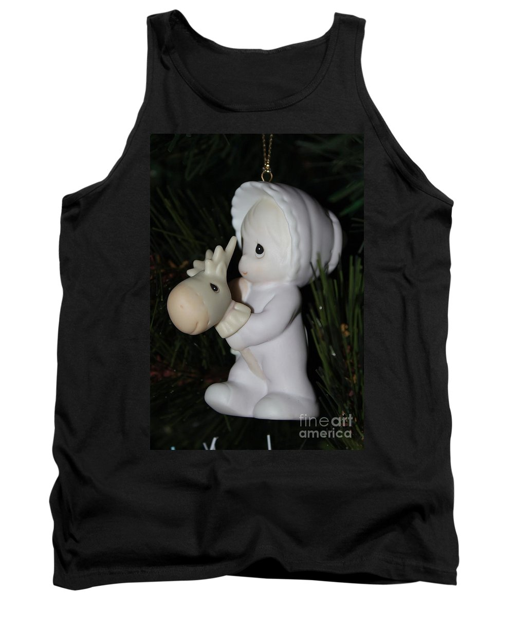 Ornament Tank Top featuring the photograph Precious Moments Baby Christmas Ornament by Janice Byer