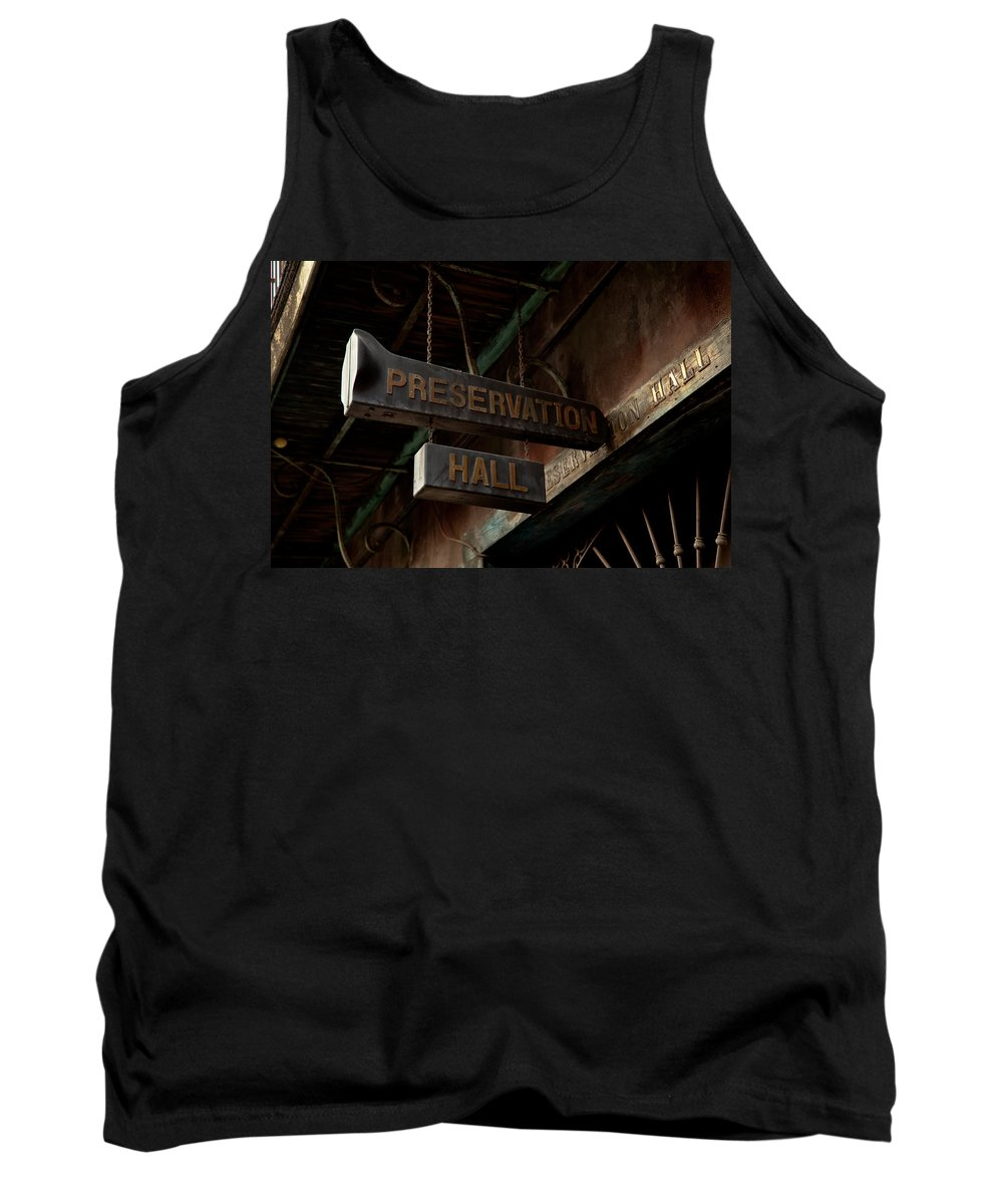 New Orleans Tank Top featuring the photograph Preservation Hall Jazz Club by Susie Hoffpauir