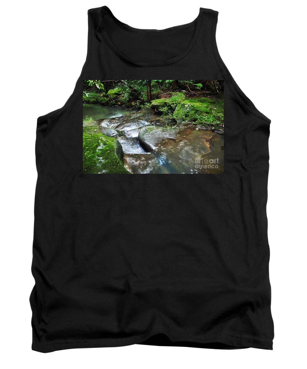 Photography Tank Top featuring the photograph Pretty Green Creek by Kaye Menner