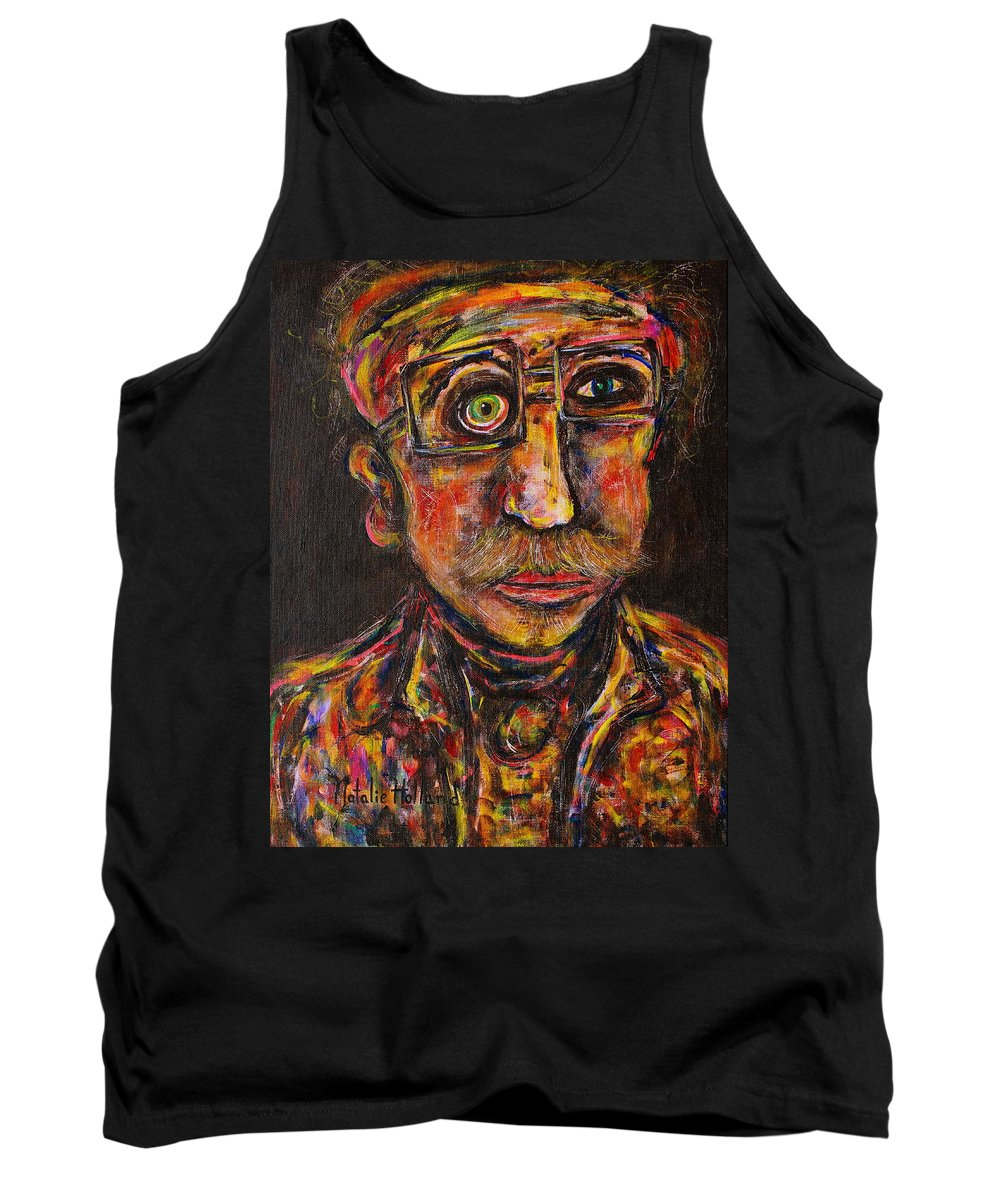 Professor Tank Top featuring the painting Professor by Natalie Holland