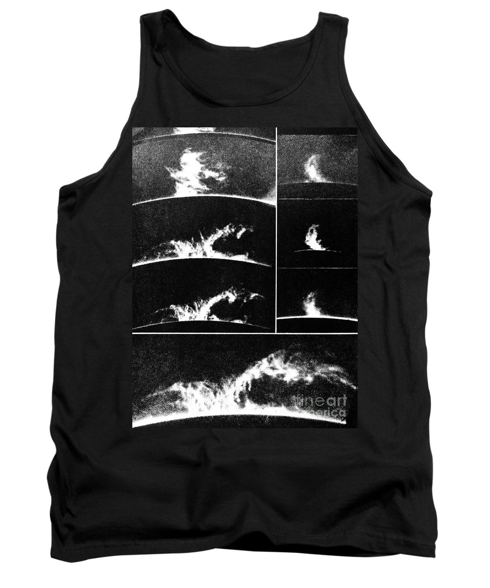 Historic Tank Top featuring the photograph Prominences On The Sun 1937 by Wellcome Images