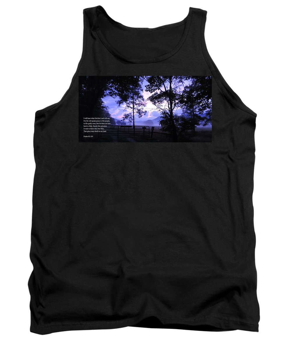 Scripture Picture Tank Top featuring the photograph Psalm 85 by Roe Rader