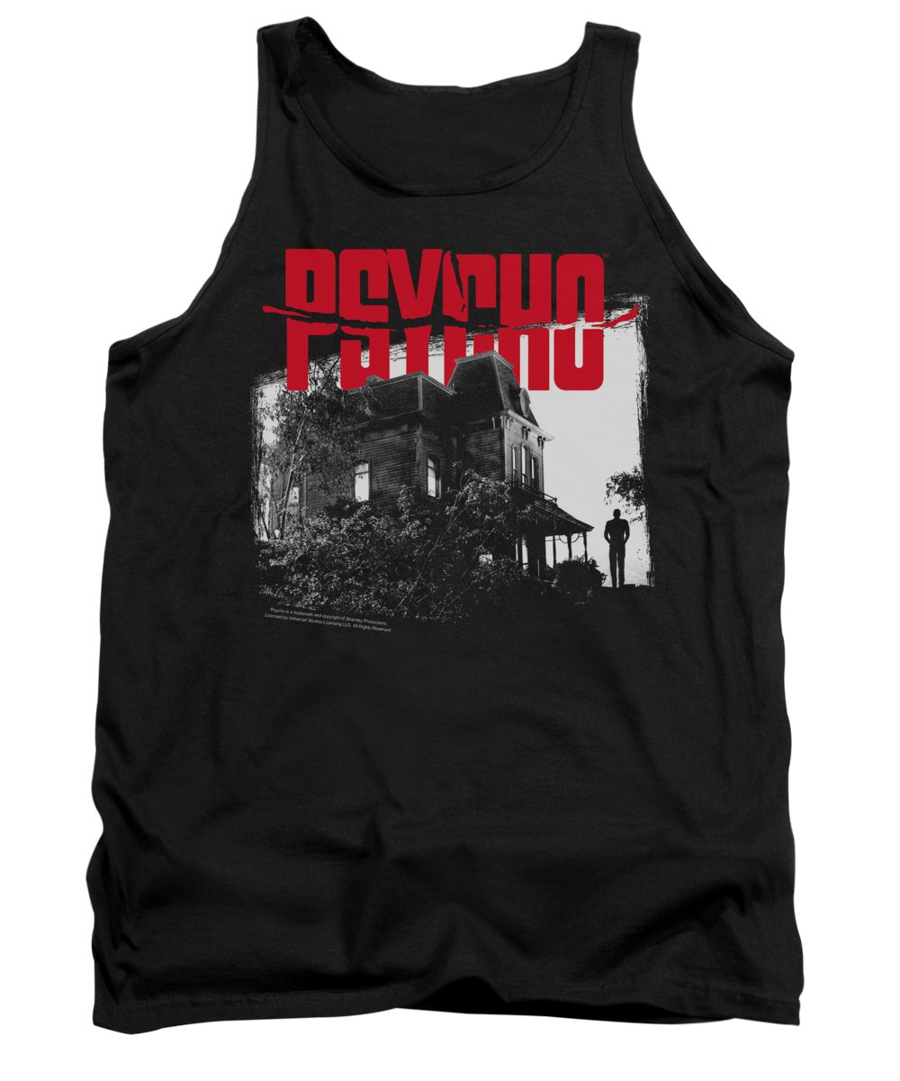Psycho Tank Top featuring the digital art Psycho - Bates House by Brand A