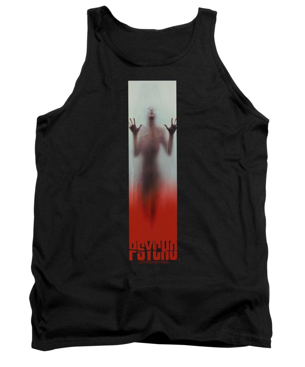 Psycho Tank Top featuring the digital art Psycho - Poster by Brand A