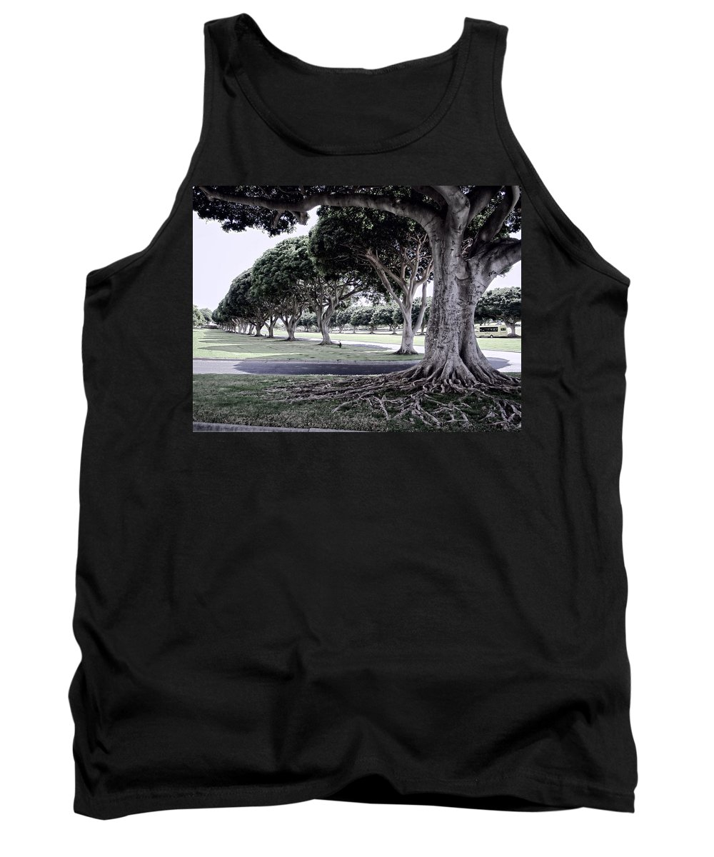 Punchbowl Tank Top featuring the photograph Punchbowl Cemetery - Hawaii by Daniel Hagerman