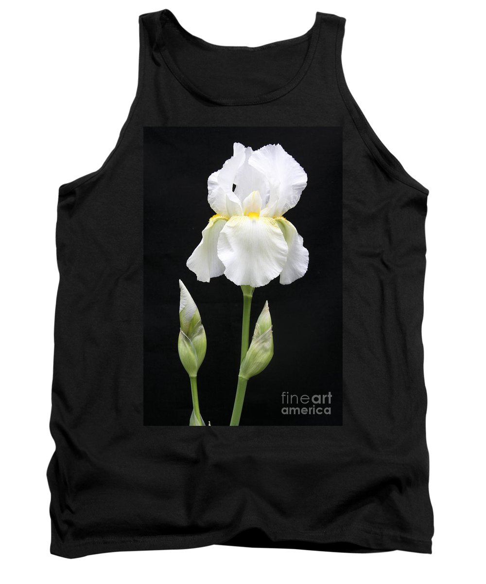 Iris Tank Top featuring the photograph Purity by Christina Gupfinger