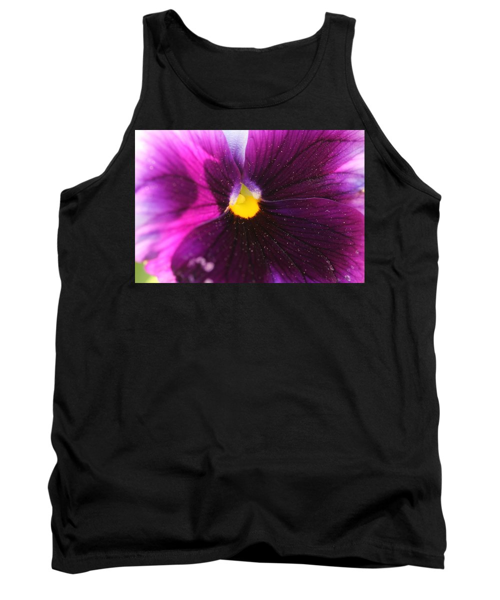 Purple Flower Tank Top featuring the photograph Purple And Pollen by Shannon Louder