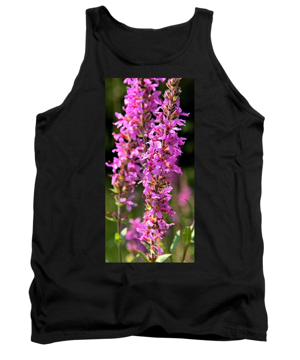 Purple Loosestrife Tank Top featuring the photograph Purple Loosestrife Tall by Valerie Kirkwood