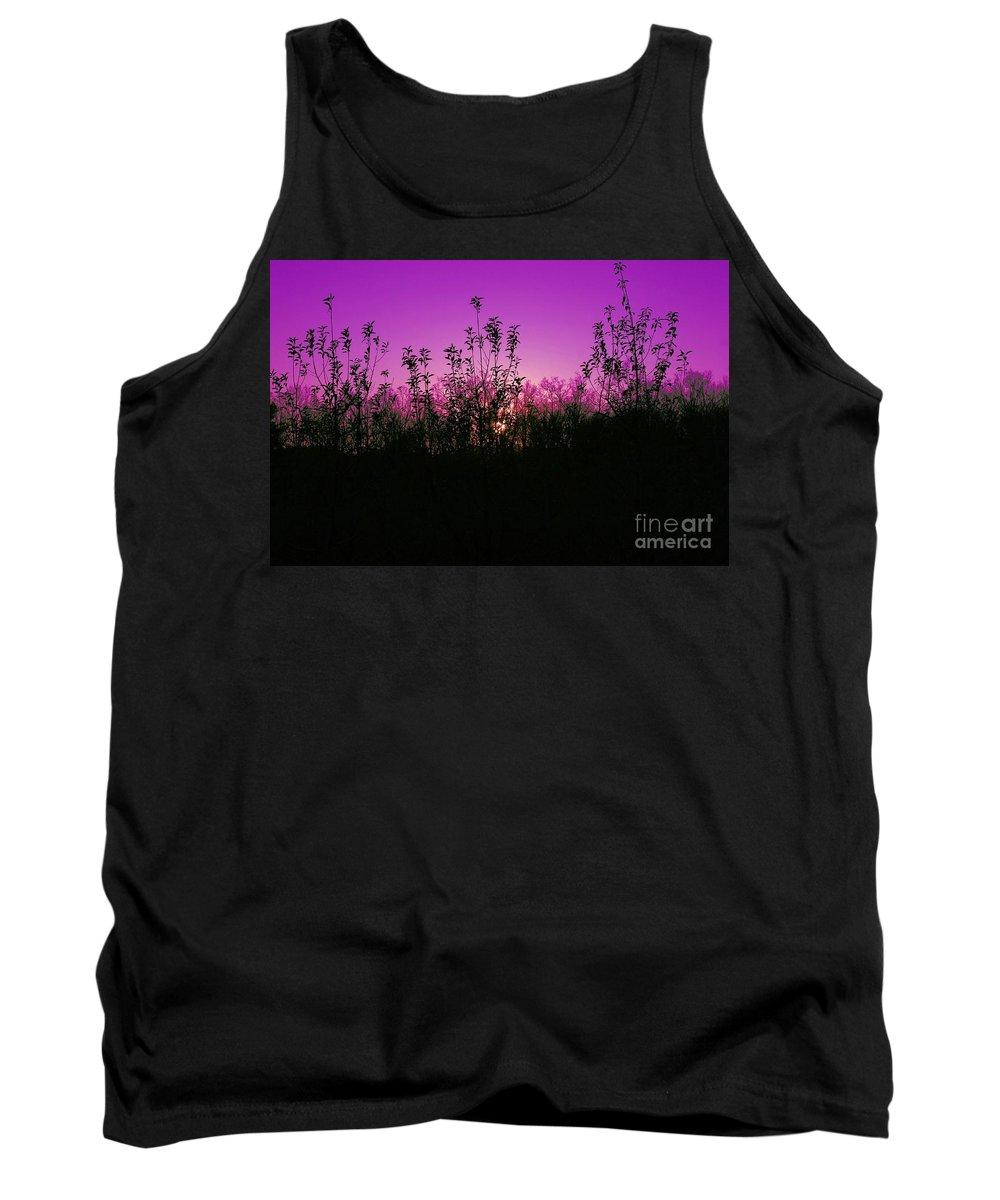 Purple Tank Top featuring the photograph Purple Paradise Sunset By Diana Sainz by Diana Raquel Sainz