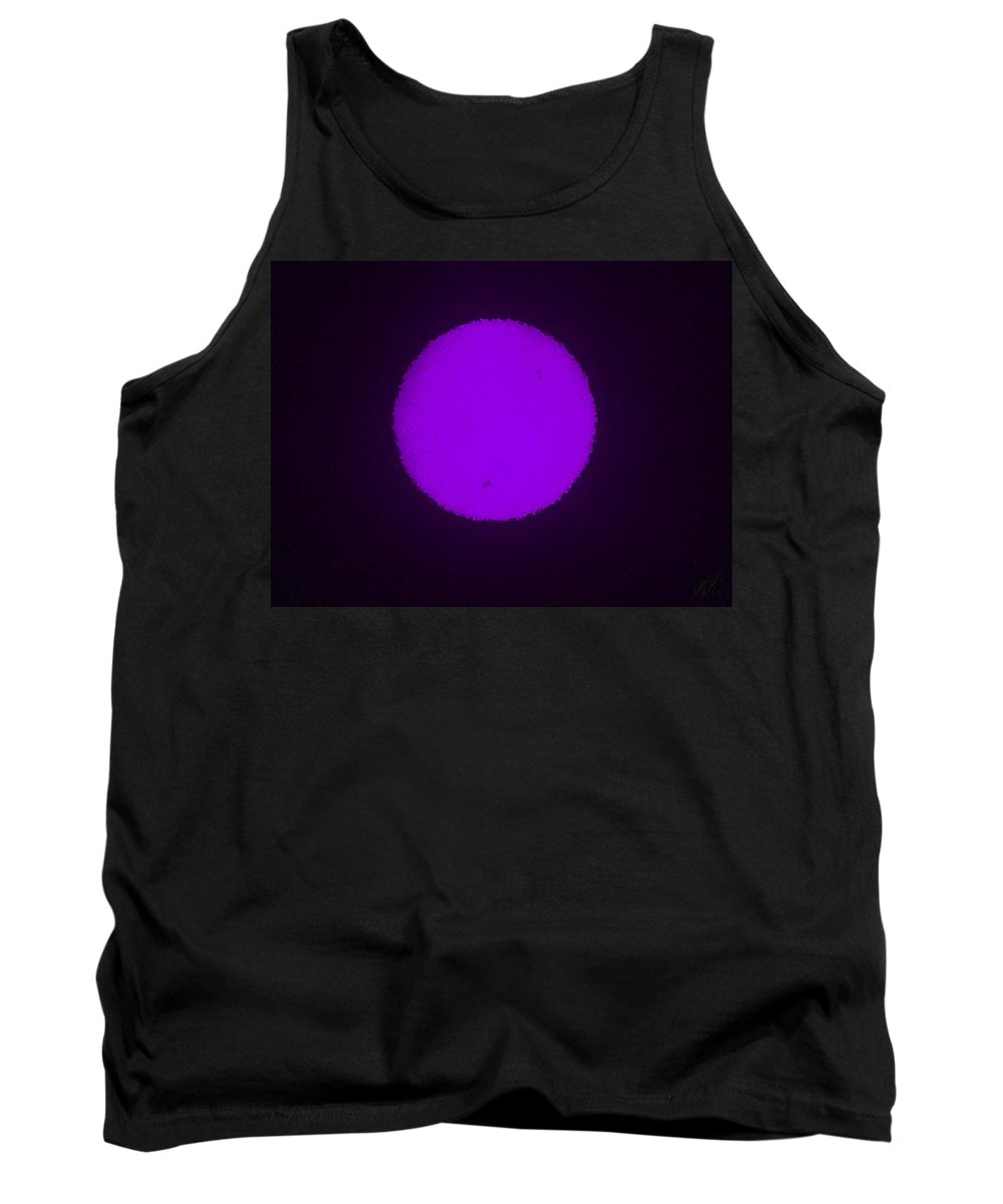 Planet Tank Top featuring the painting Purple Planet by Bruce Nutting