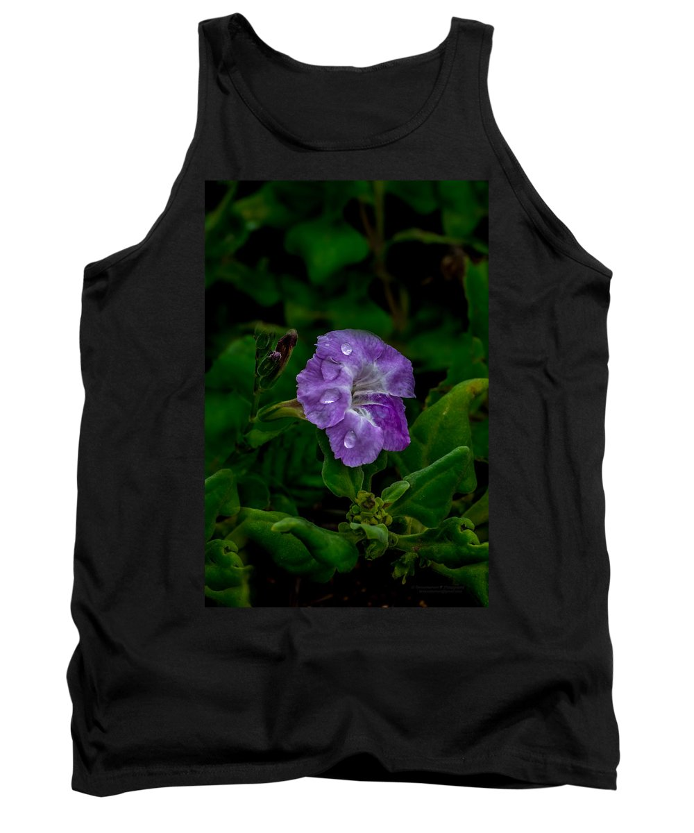 Raindrop Tank Top featuring the photograph Purple Rain by Tex Wantsmore