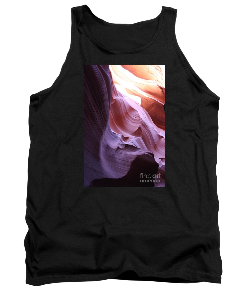 Canyon Tank Top featuring the photograph Purple Sandstone by Christiane Schulze Art And Photography