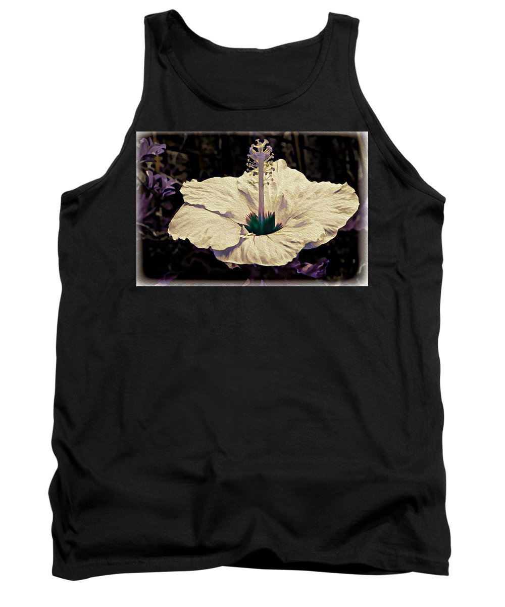 Background Tank Top featuring the photograph Purple Trim by Maria Coulson