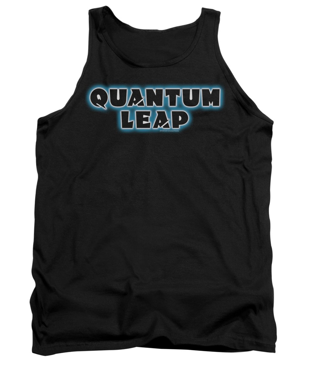 Quantum Leap Tank Top featuring the digital art Quantum Leap - Logo by Brand A