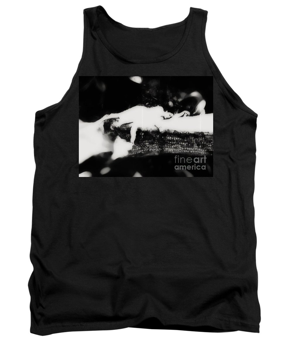 Black Tank Top featuring the photograph Quietly by Jessica Shelton