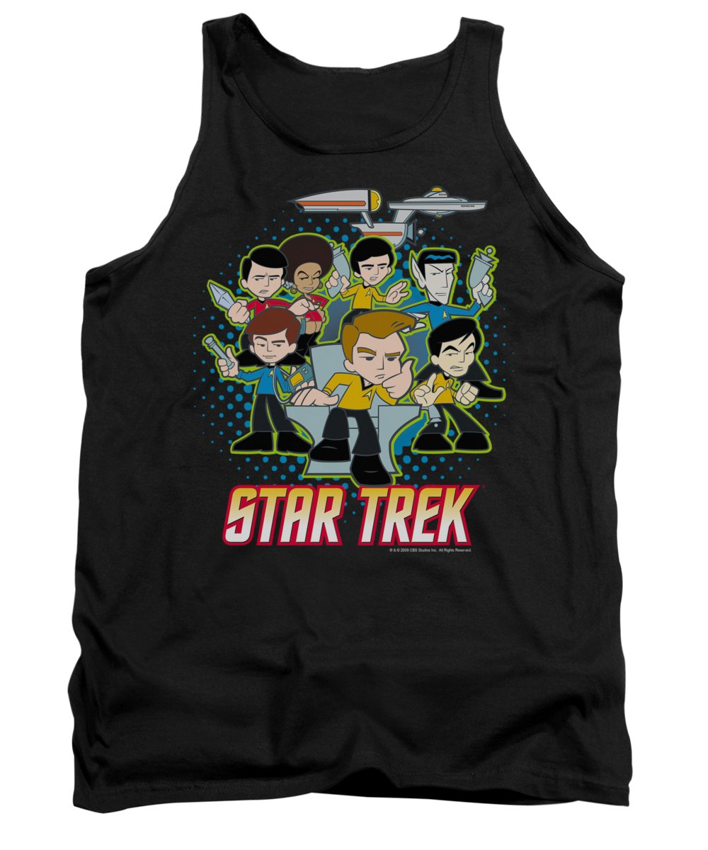 Star Trek Tank Top featuring the digital art Quogs - Quogs Collage by Brand A