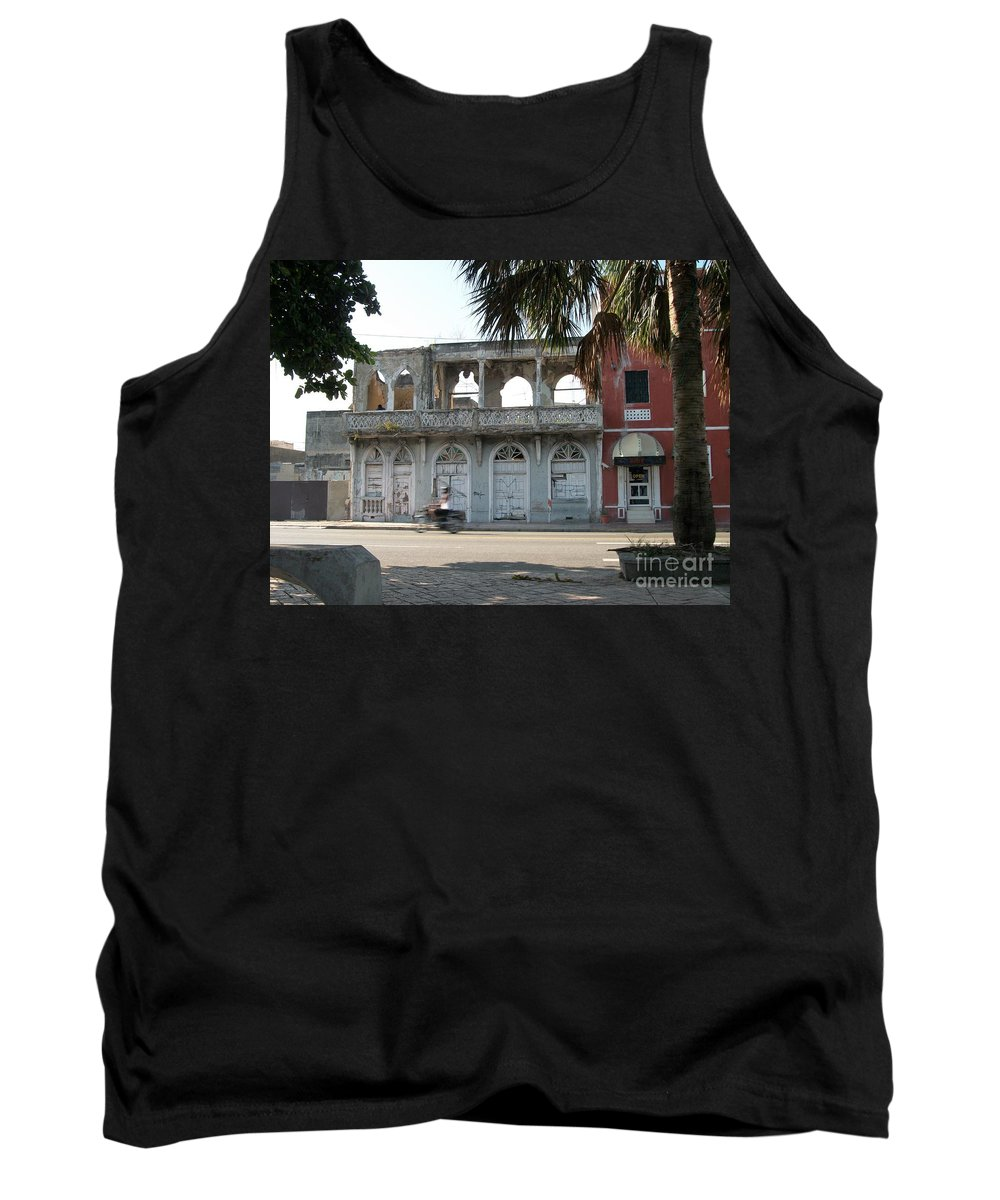 Motorcycle Tank Top featuring the photograph Racing Through The Past by Heather Kirk
