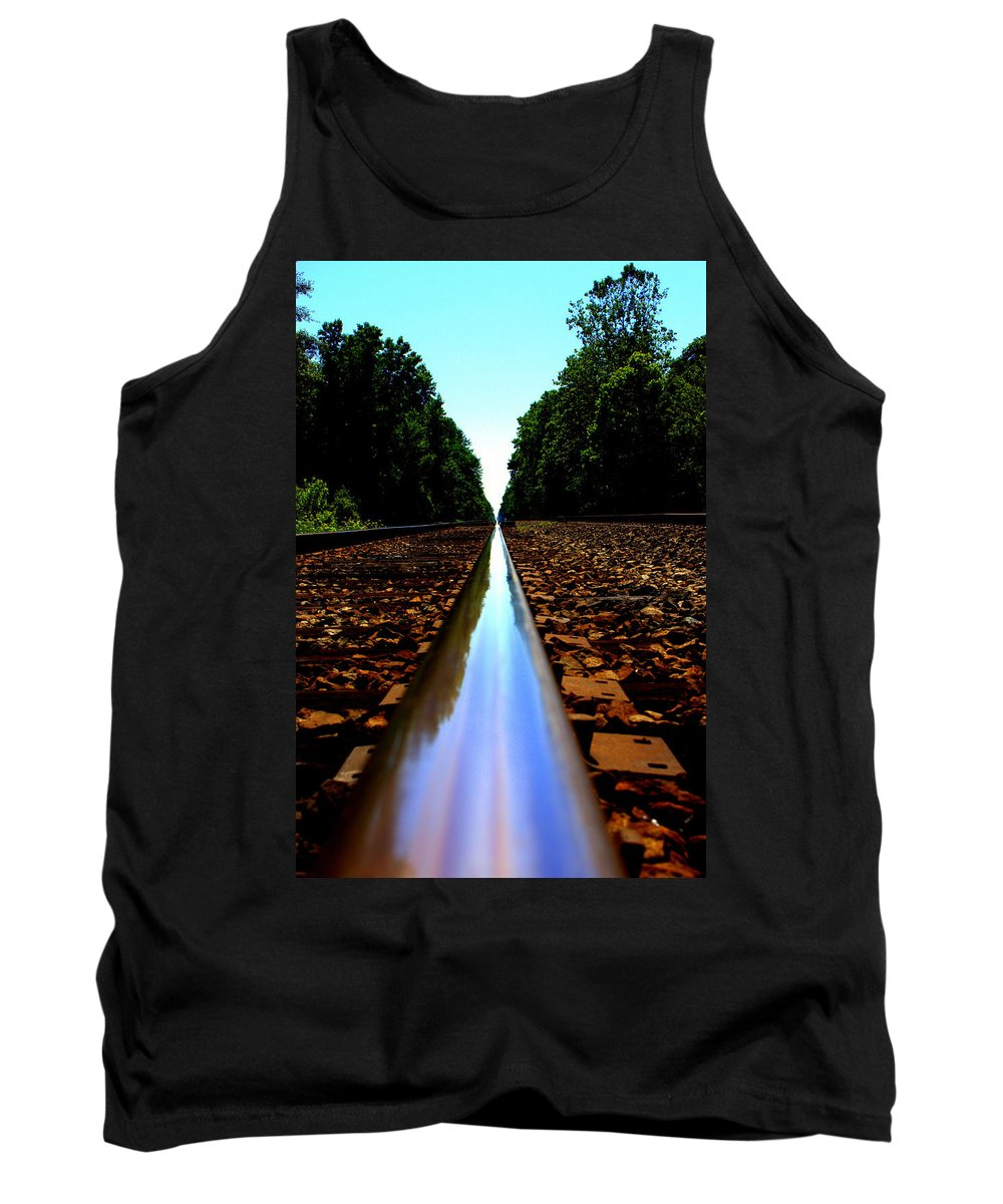 Rail Line Tank Top featuring the photograph Rail Line by Shannon Louder