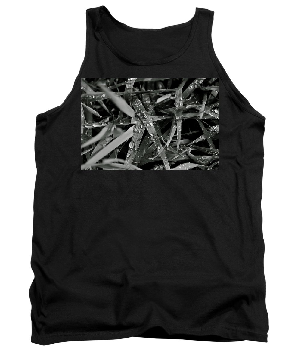 Rain Tank Top featuring the photograph Raindrops On Grass by Cathy Mahnke