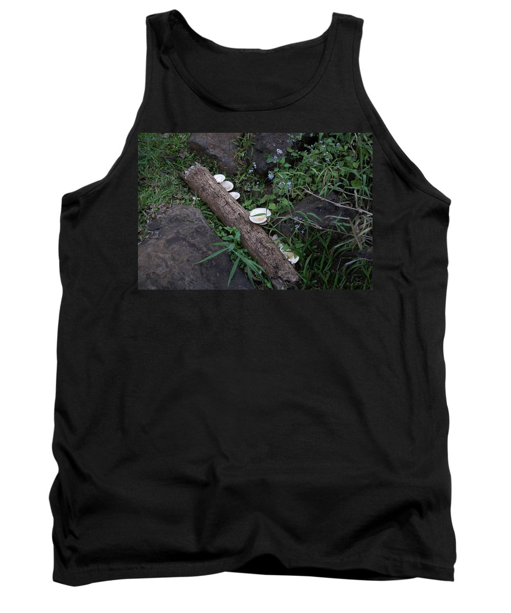 Australia Queensland Qld Tank Top featuring the digital art Rainforest Vegetation Moss And Fungi by Carol Ailles