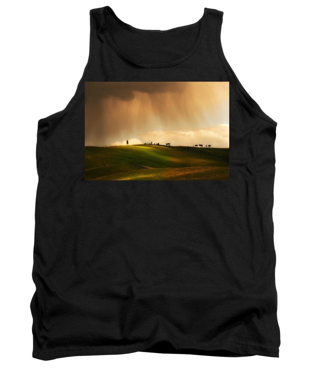 Weather Tank Top featuring the photograph Rainy Sunny Toscany by Jaroslaw Blaminsky