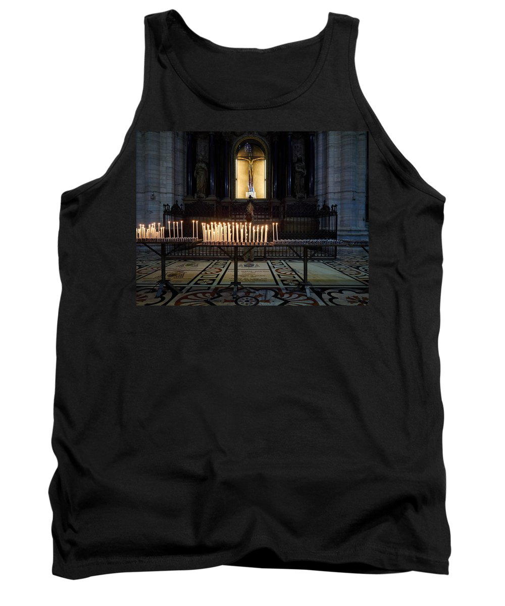 Francacorta Tank Top featuring the photograph Reaching. Duomo. Milano Milan by Jouko Lehto