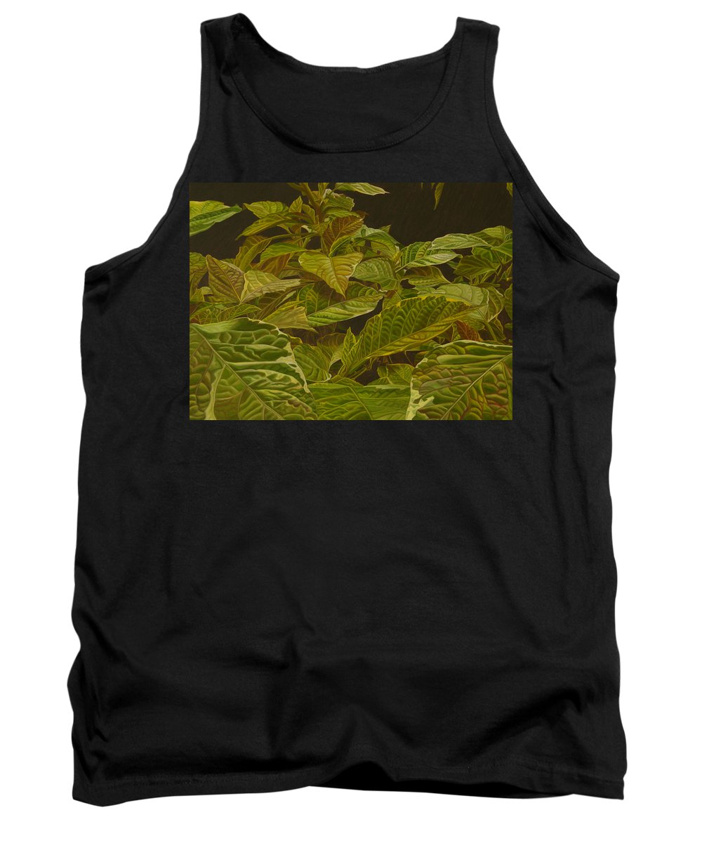 Plant Tank Top featuring the painting Ready For Spring by Thu Nguyen