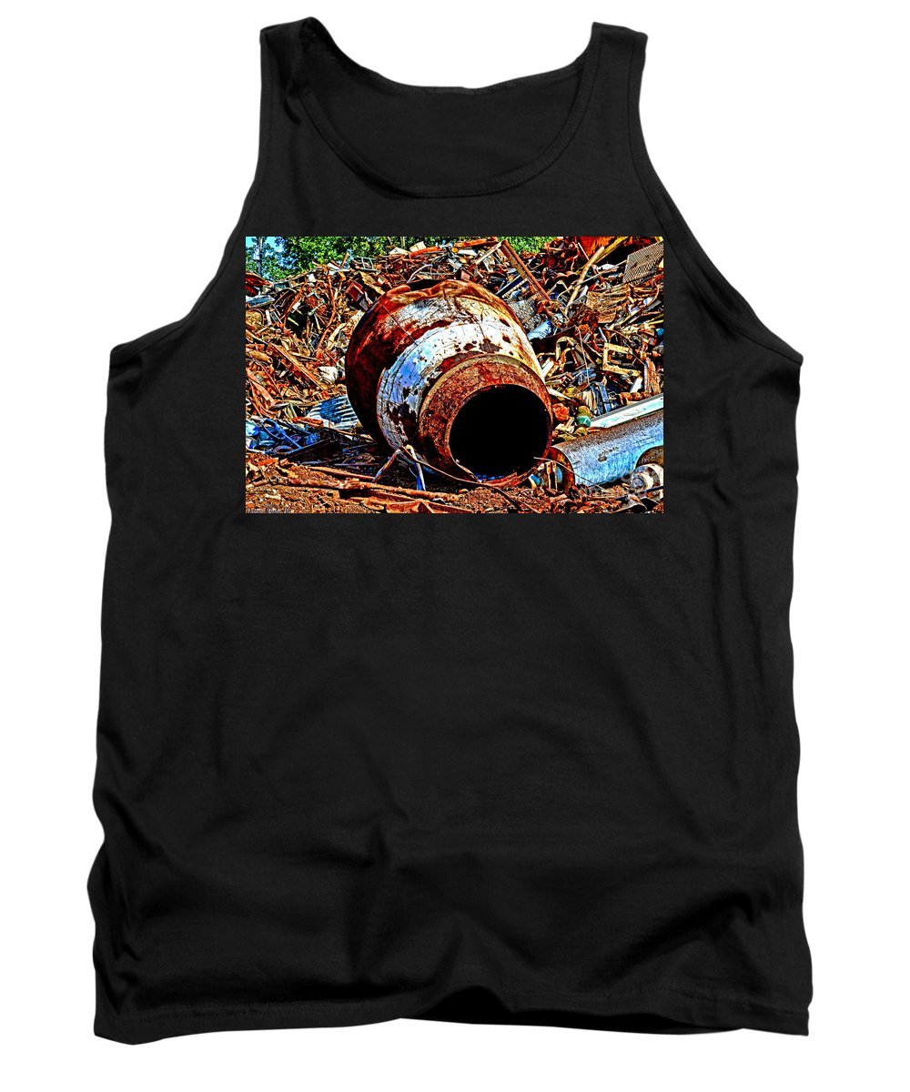 Arcitectures Tank Top featuring the photograph Really Rusty by Debbie Portwood
