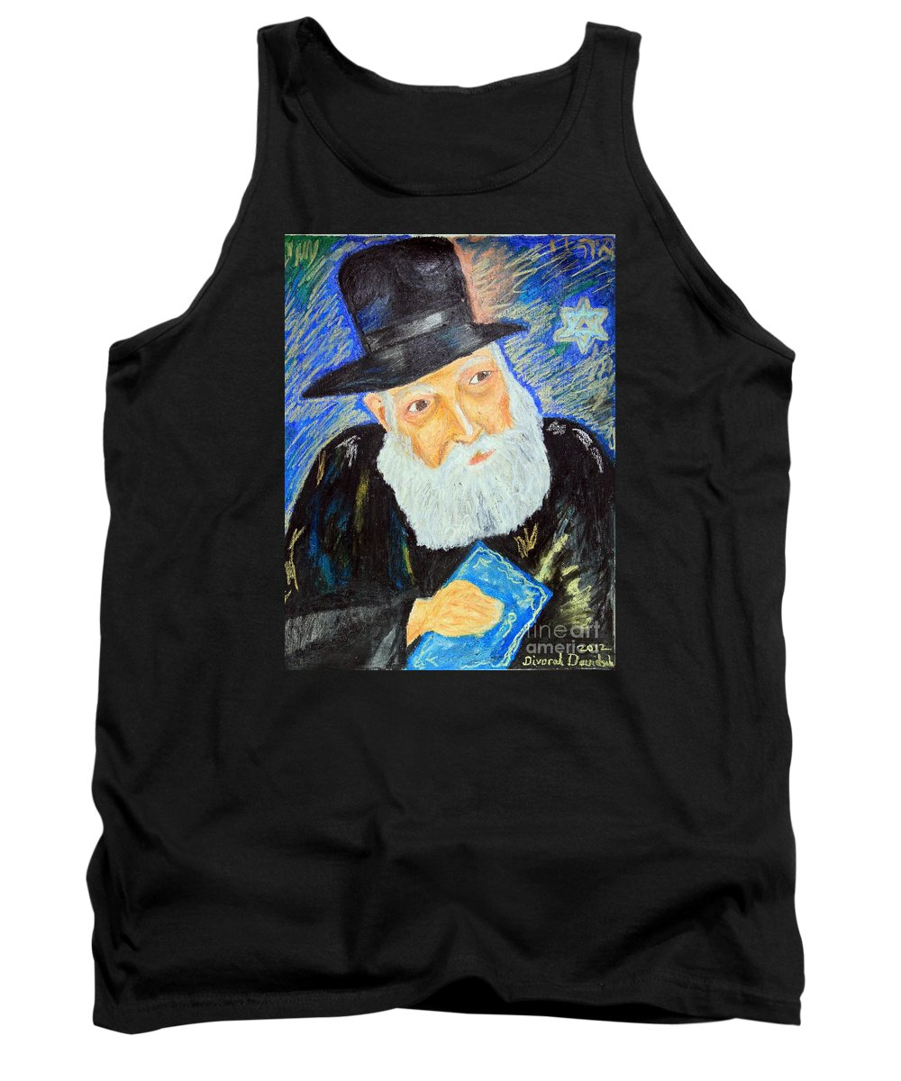 Artwork Tank Top featuring the painting Rebbe's World by Debbie Davidsohn