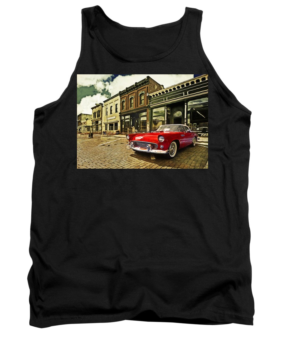 T Bird Tank Top featuring the photograph Red Bird On Main Street by John Anderson