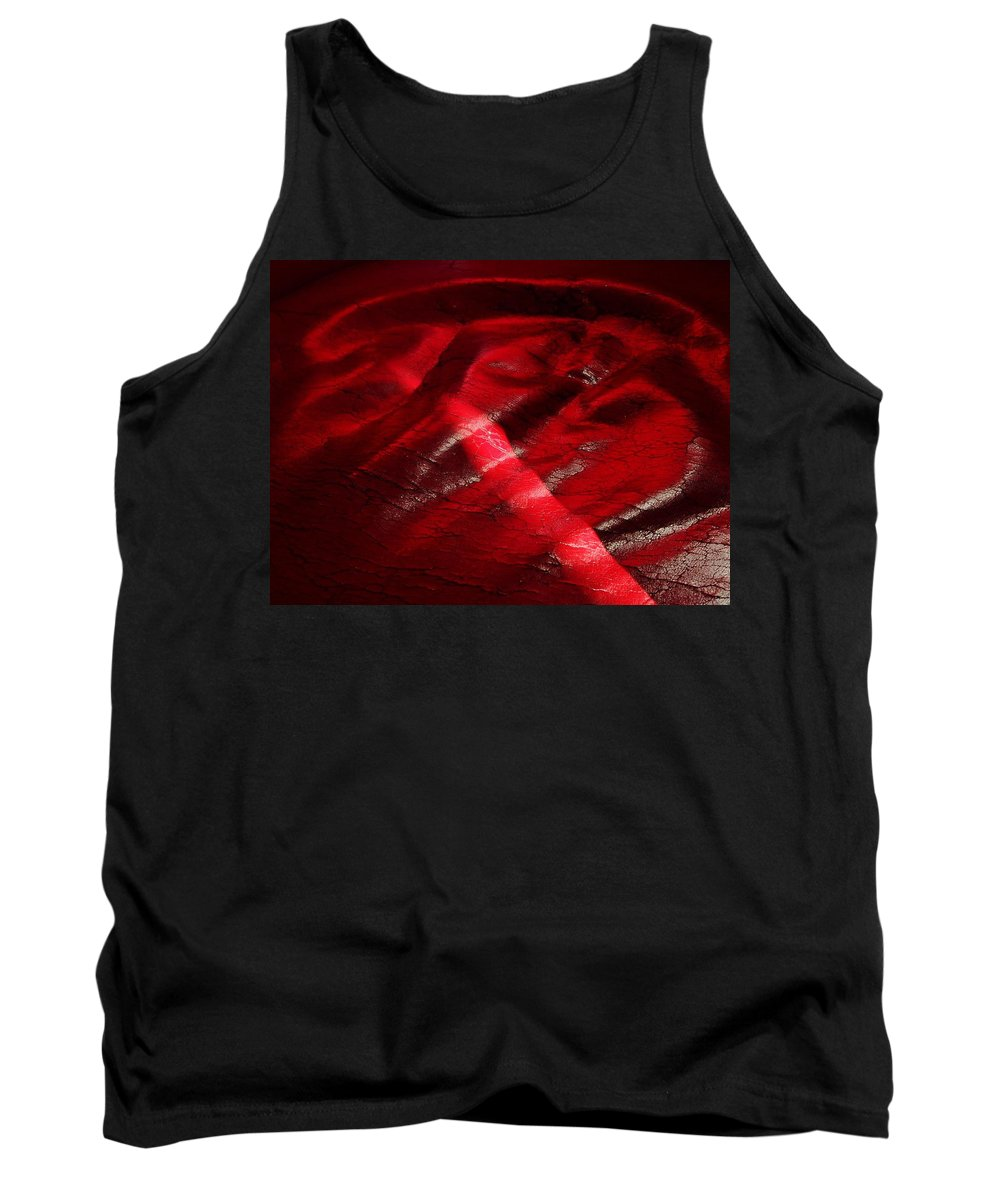 Red Tank Top featuring the photograph Red Chair II by David Pantuso
