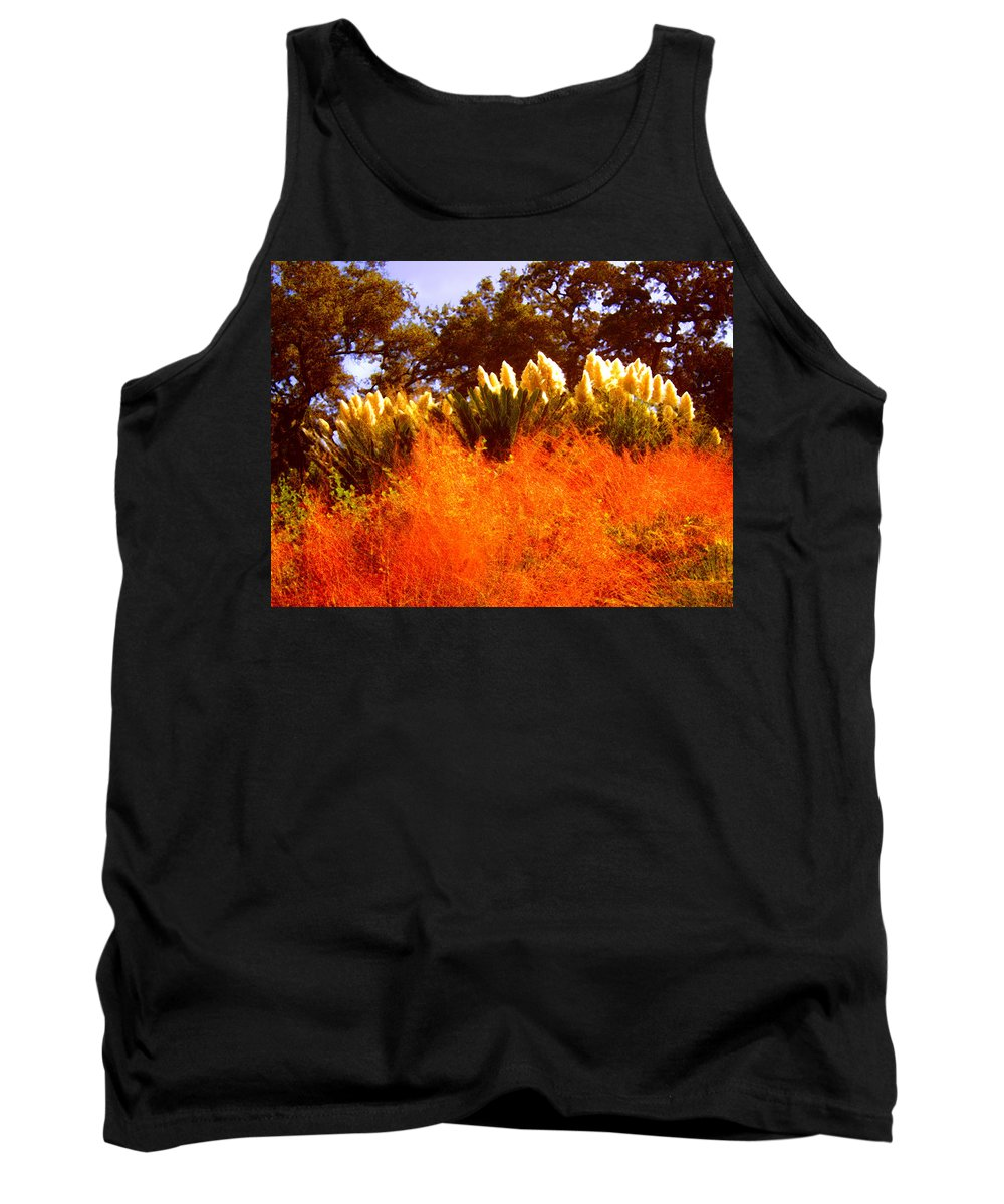 Landscapes Tank Top featuring the painting Red Grass by Amy Vangsgard