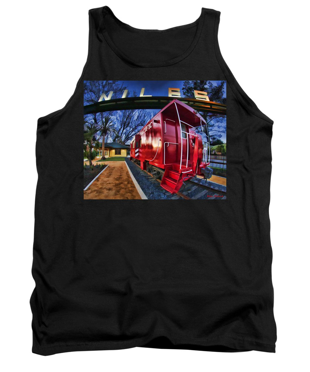 Niles Canyon Railway Tank Top featuring the photograph Red Niles by Blake Richards
