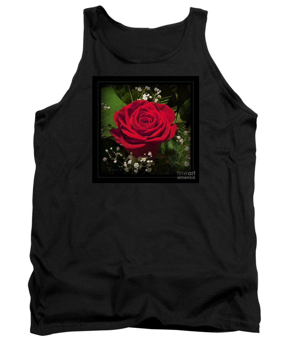 Rose Tank Top featuring the photograph Red Rose by John Stephens