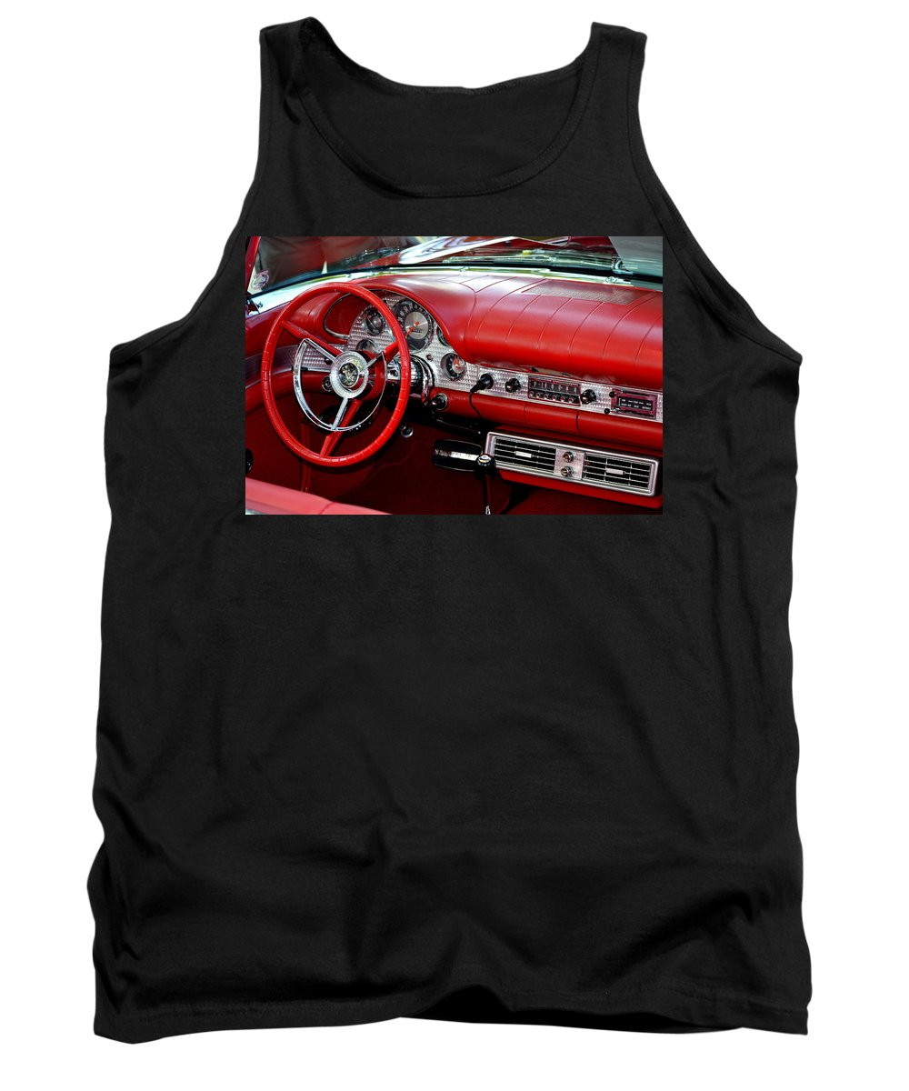 Tank Top featuring the photograph Red Thunderbird Dash by Dean Ferreira