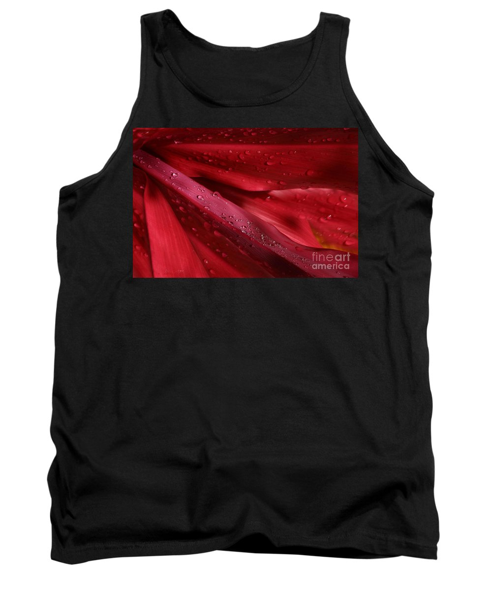 Cordyline Terminalis Tank Top featuring the photograph Red Ti The Queen Of Tropical Foliage by Sharon Mau