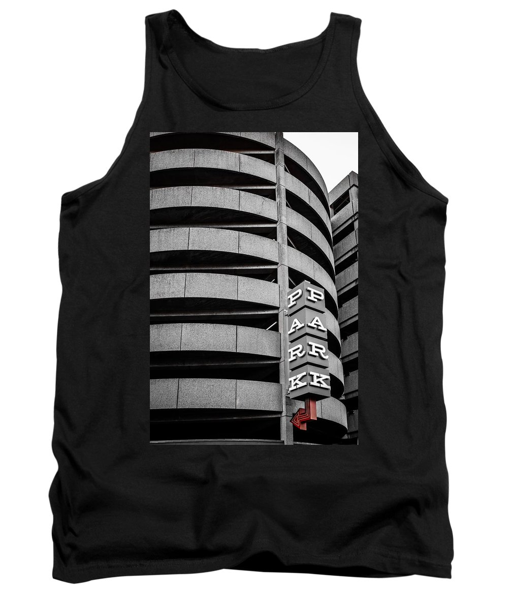 Architecture Tank Top featuring the photograph Red Zone Parking by Melinda Ledsome