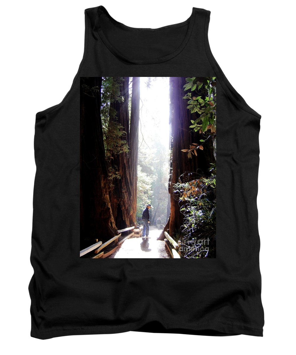 Pathway Tank Top featuring the photograph Redwood Path by Mary Rogers