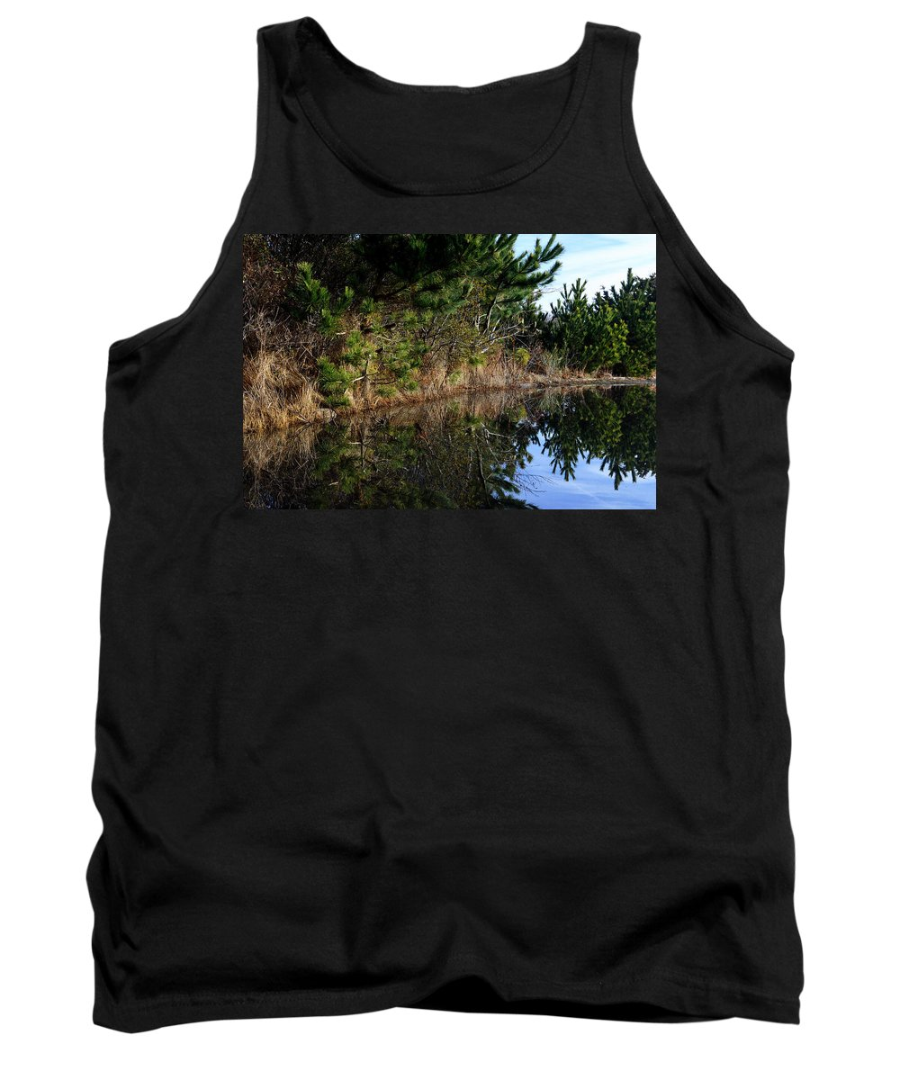 At The Beach Tank Top featuring the photograph Reflecting Puddle At The Beach by Bill Swartwout Fine Art Photography