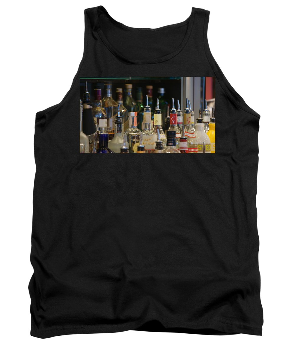 Bottles Tank Top featuring the photograph Reflection by Crystal Harman