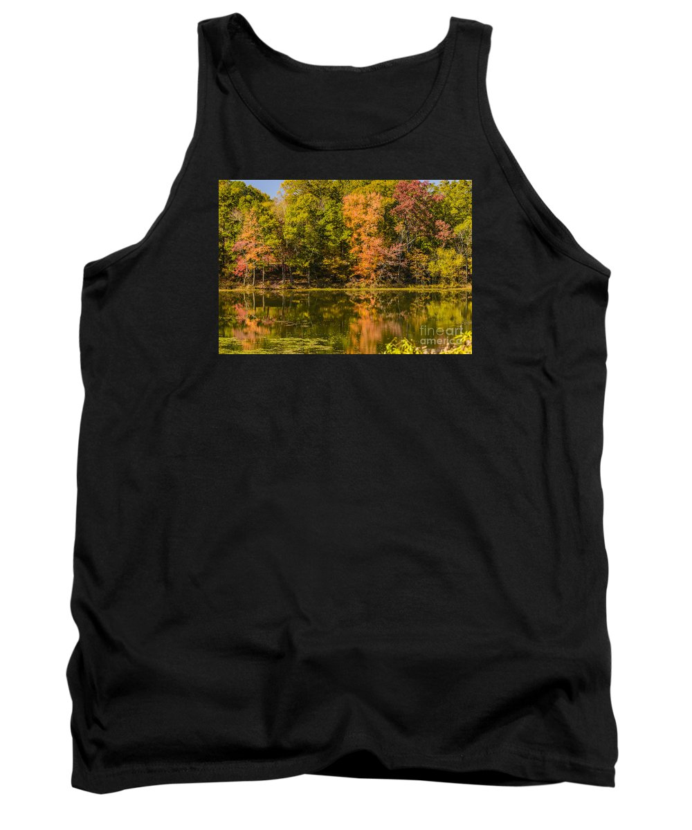South Carolina Tank Top featuring the photograph Reflection Of Autumn by Elvis Vaughn
