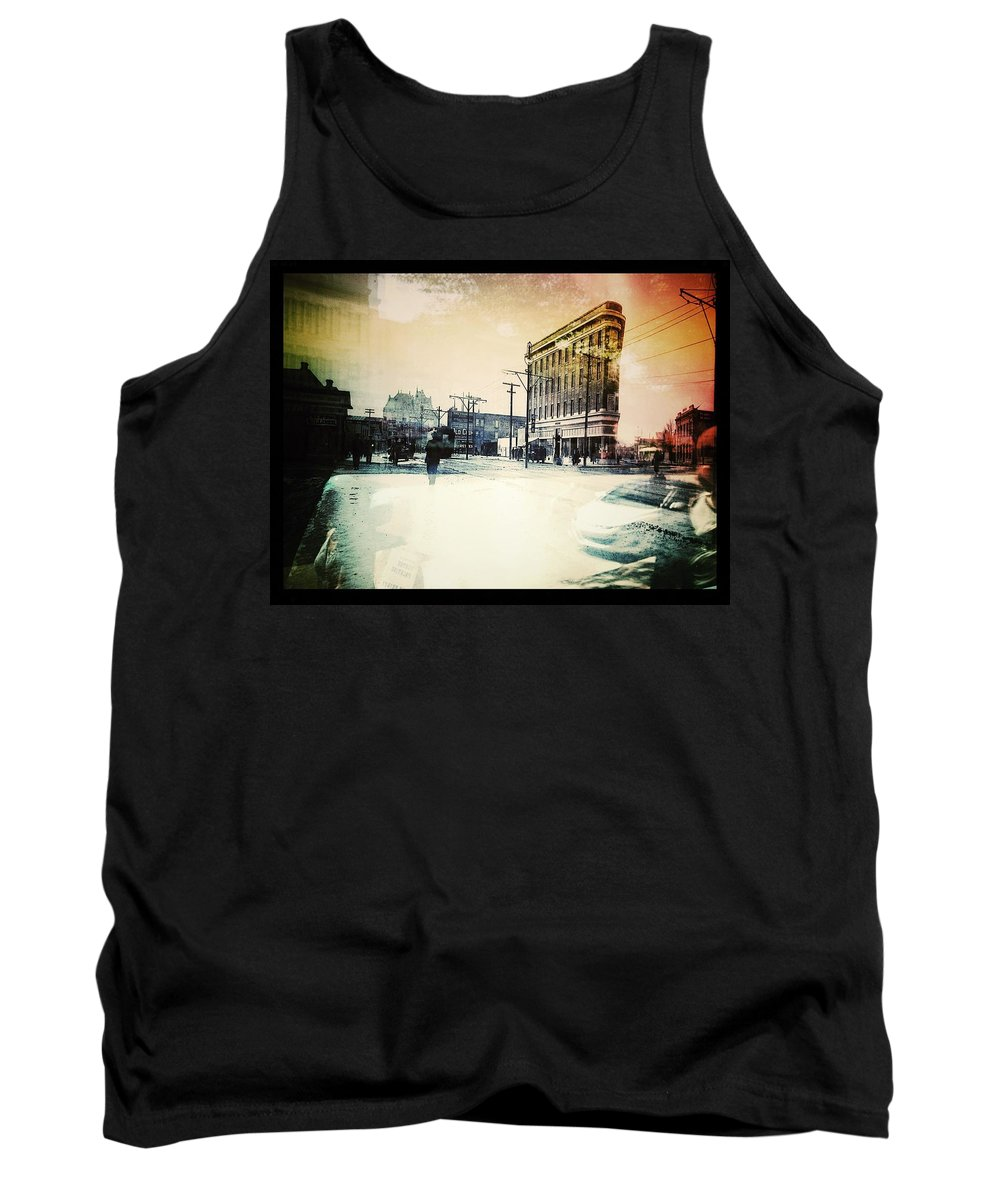 Street Photography Tank Top featuring the photograph Reflection Of Colour by The Artist Project
