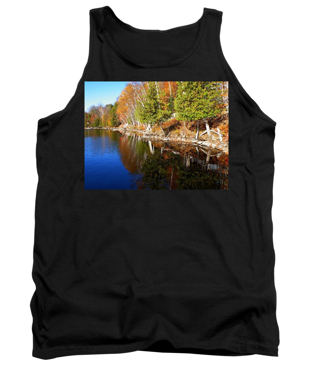 Nature Tank Top featuring the photograph Reflections In Water by Davandra Cribbie