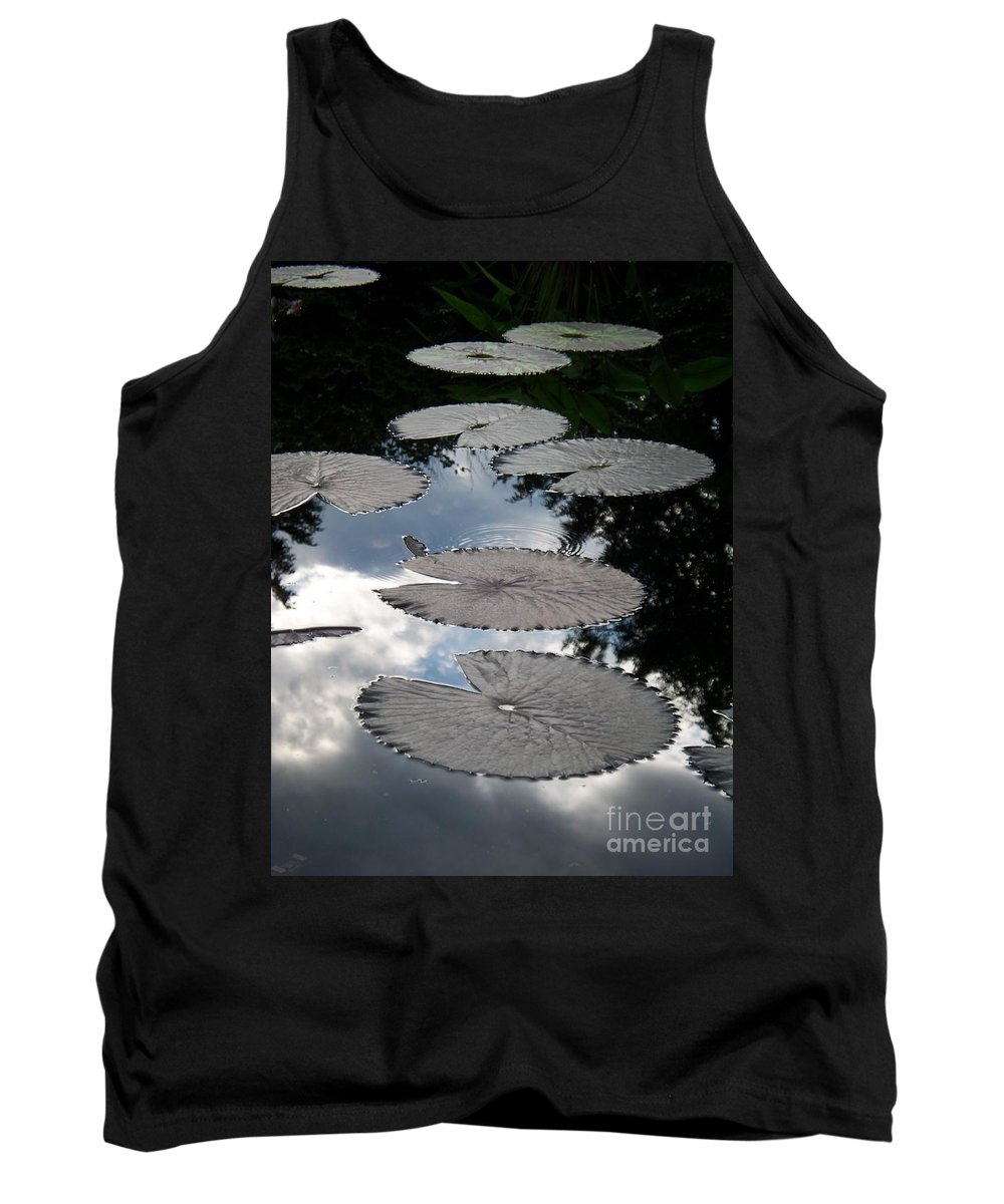 Water Lilies Tank Top featuring the photograph Reflections On A Lily Pond Monet by Eric Schiabor