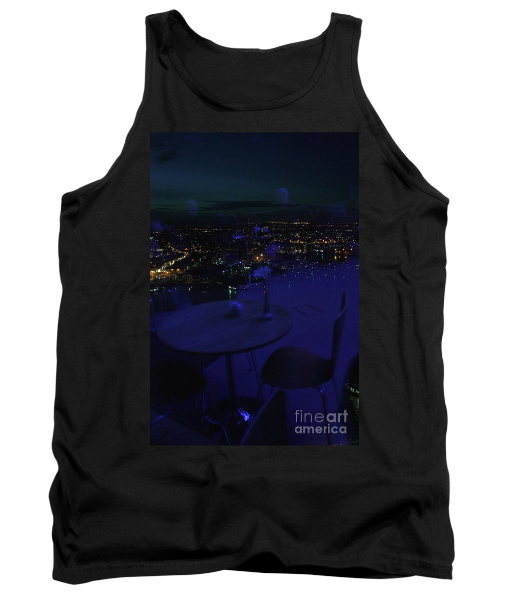 Spinnaker Tank Top featuring the photograph Reflections Table With A View by Terri Waters