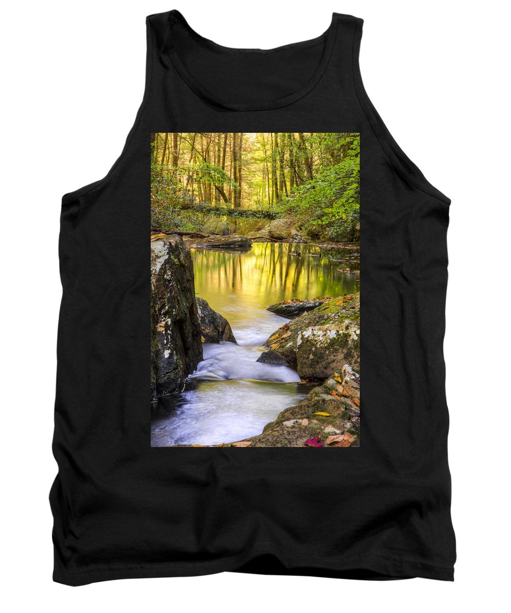 Appalachia Tank Top featuring the photograph Reflective Pools by Debra and Dave Vanderlaan