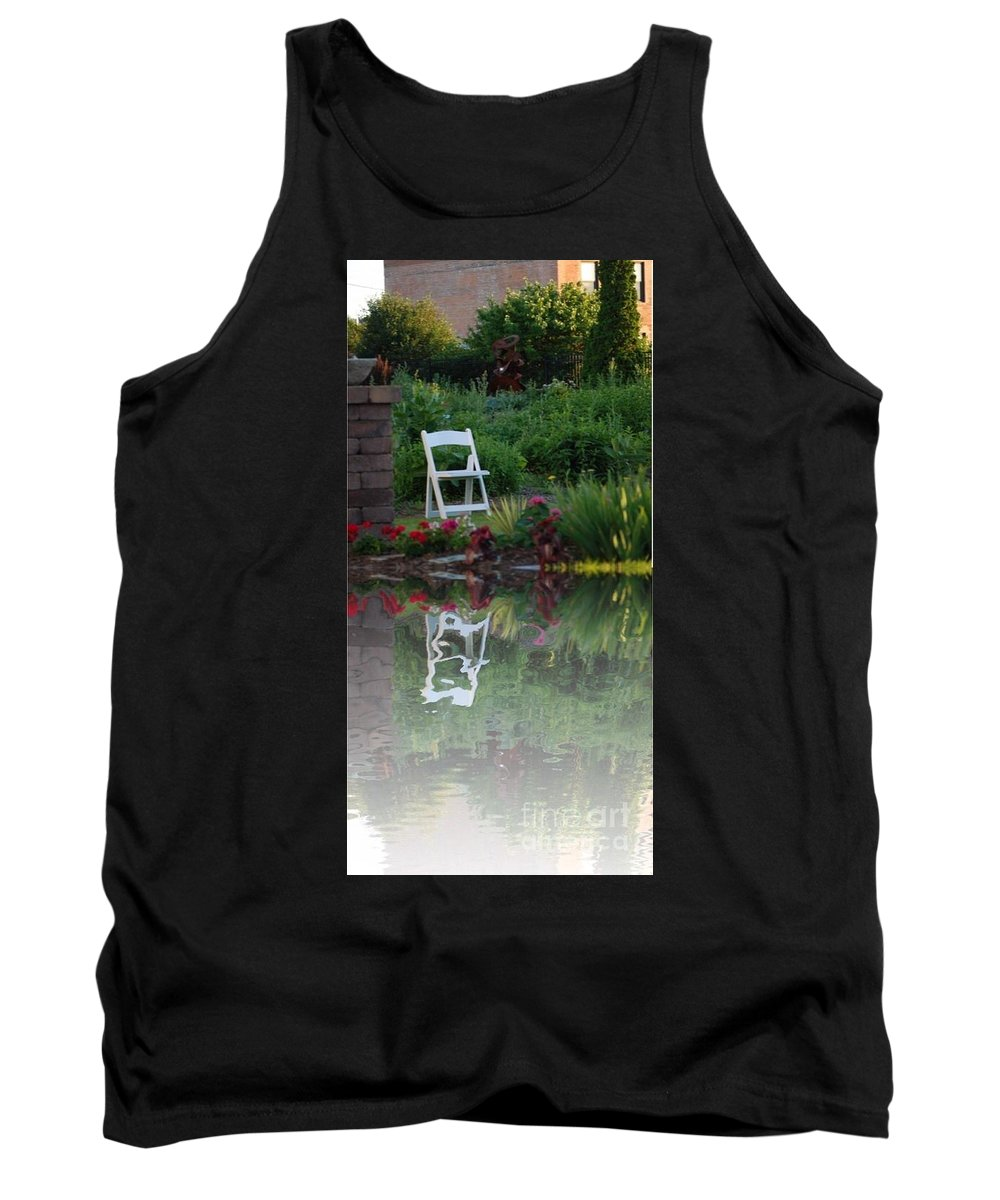 Chair Tank Top featuring the photograph Reflective Thinking by Scott Polley