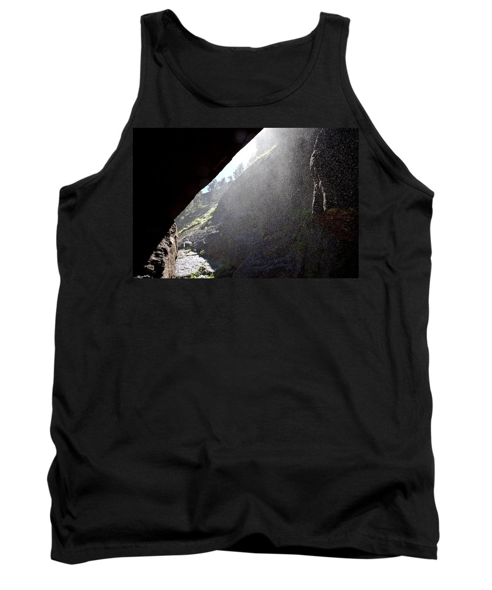 Outdoors Tank Top featuring the photograph Refreshing Tunnel by Brian Williamson