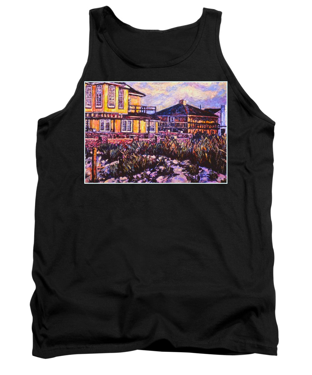Landscape Tank Top featuring the painting Rehoboth Beach Houses by Kendall Kessler